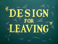 Design for Leaving Title Card