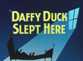 Daffy Duck Slept Here Title Card
