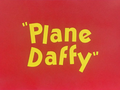 Plane Daffy Title Card