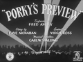 Porky's Preview Title Card