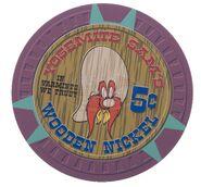 Wooden Nickel Poker Chip