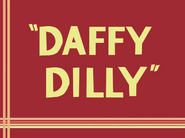 Daffy Dilly Title Card