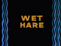 Wet Hare Title Card
