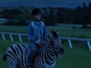 Stripes takes Channing out to the track