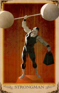 Haly's Circus Strongman Poster