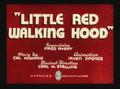Little Red Walking Hood Title Card