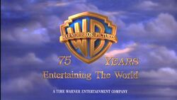 Warner Bros Pictures A Time Warner Entertainment Company 75 Years