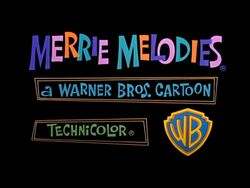Merrie melodies card with wb logo 1964