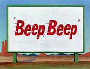 Beep, Beep Title Card