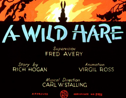 A Wild Hare Title Card