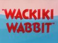 Wackiki Wabbit Title Card