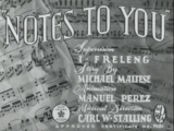 Notes to You