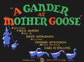 A Gander at Mother Goose Title Card
