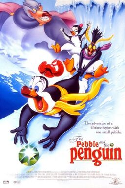 The pebble and the penguin poster