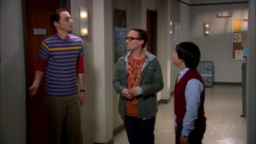 Sheldon and Leonard giving Dennis a tour