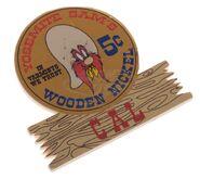 Wooden Nickel name tag