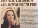 DAILY PLANET STAR REPORTER LOIS LANE WINS PULITZER PRIZE