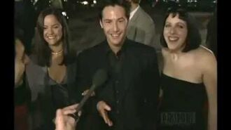 "1999 Keanu Reeves. ""The Matrix"" Los Angeles Premiere"