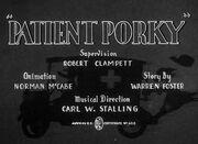 Patient Porky Title Card