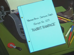 Rabbit Rampage Zoomed Out Title Card