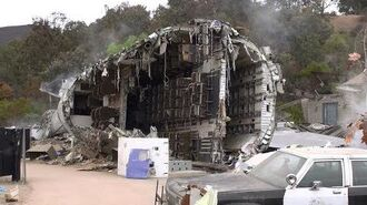 Plane Crash Set at Universal Studios Hollywood