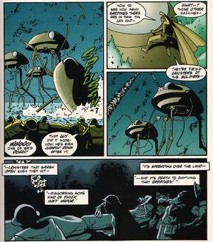 Martian Tripod Launches the Black Smoke