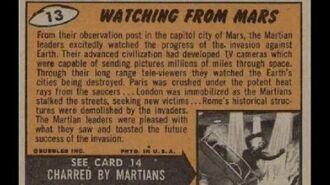 TOPPS 1962 MARS ATTACKS CARDS - BACKS