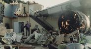 Destroyed Plane Engine 2005