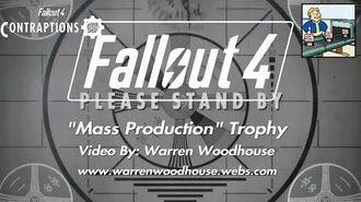 "FALLOUT 4 (PS4) - CONTRAPTIONS (DLC) - ""Mass Production"" Trophy"