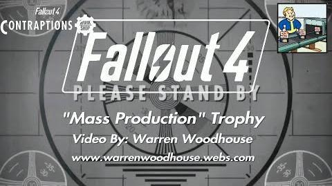 "FALLOUT 4 (PS4) - CONTRAPTIONS (DLC) - ""Mass Production"" Trophy"
