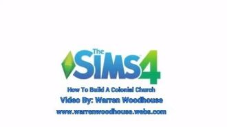 THE SIMS 4 (PS4) - How To Build A Colonial Church