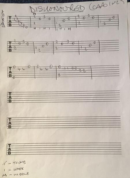 GuitarTabs ByPhilMartin DishonoredMainTheme