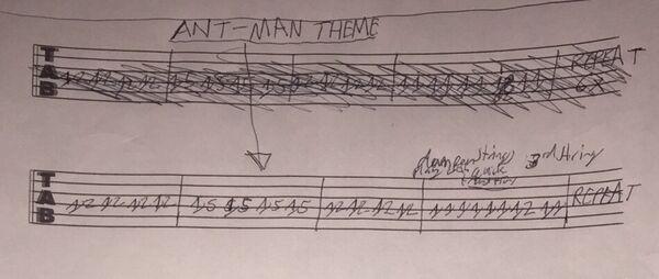 GuitarTabs ByWarrenWoodhouse AntManMainTheme