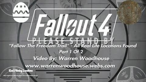 "FALLOUT 4 (PS4) - ""Follow The Freedom Trail"" - All Real Life Locations Found - Part 1 Of 2"
