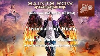 "SAINTS ROW IV GAT OUT OF HELL (PS4) - ""Terminal Hog"" Trophy"