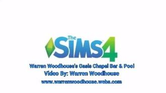 THE SIMS 4 (PS4) - Warren Woodhouse's Oasis Chapel Bar & Pool