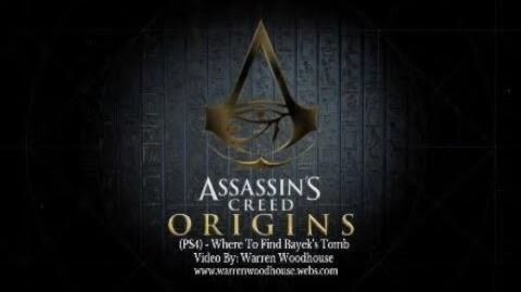 ASSASSIN'S CREED ORIGINS (PS4) - Where To Find Bayek's Tomb