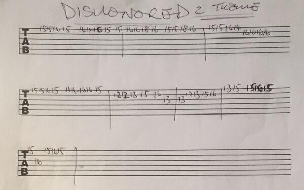 GuitarTabs ByPhilMartin Dishonored2MainTheme