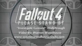 """FALLOUT 4 (PS4) - """"Investigate Concord"""" Walkthrough"""