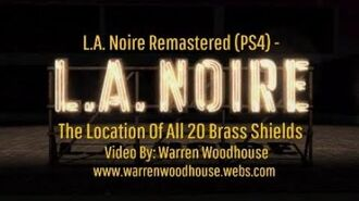 L.A. NOIRE (PS4) - The Location Of All 20 Brass Shields