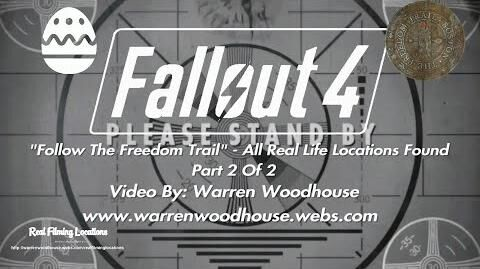 "FALLOUT 4 (PS4) - ""Follow The Freedom Trail"" - All Real Life Locations Found - Part 2 Of 2"