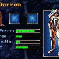 Профиль Даррена в видеоигре