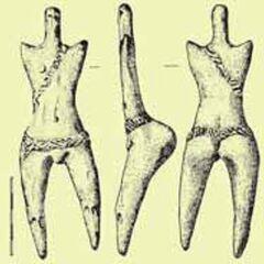 Антропоморфная мужская статуэтка с перевязью. Думешть, Румыния, этап A.
