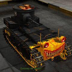 Необычный окрас T1 Cunningham от mossin. Окрас представляет собой своего рода танк, выехавший из самого пекла, пришедший из ада, что бы забирать с собой грешников.
