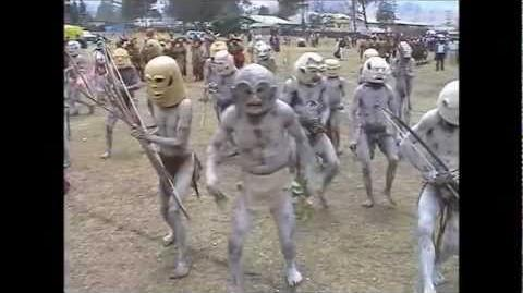 Asaro Mudmen & Skeleton People in Garoka PNG