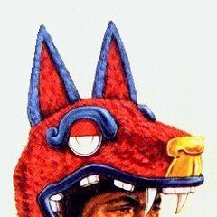 Шлем воинов-койотов.