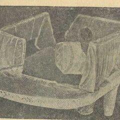 Глиняная модель жилья с раскопок на поселении в с. Владимировке.