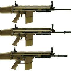 SCAR-H со стволами разной длины.