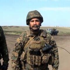 Командир батальона Александр Гуменюк.