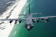 AC-130H flies along Northwest Florida coast